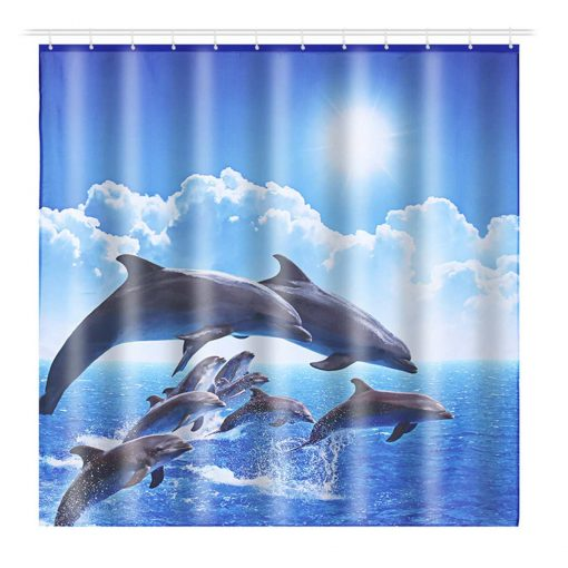 Jumping Dolphins Shower Curtain Shower Curtains
