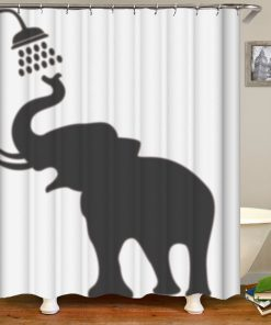 {21+ Diff} 3D Funny Elephant Print Shower Curtains Shower Curtains