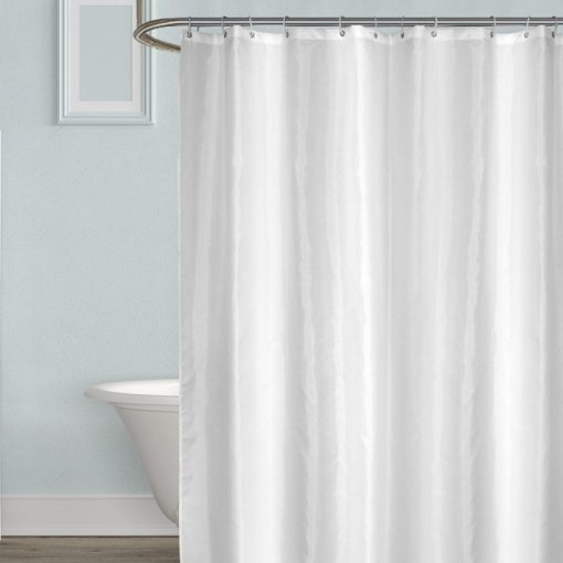 Luxury White Shower Curtain Waterproof, Mildew-proof  Thick Solid Bath Curtain for Bathroom & Bathtub Shower Curtains