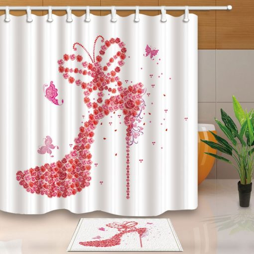 Modern Style High Heels Shower Curtains -Soft and Comfortable Eco-Friendly Shower Curtains