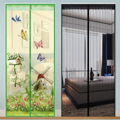 Designer Hands-free Magnetic Screen Door Mosquito net, Anti-fly, Anti-insect for Safe Home {Pet Friendly} Magnetic Screen Door