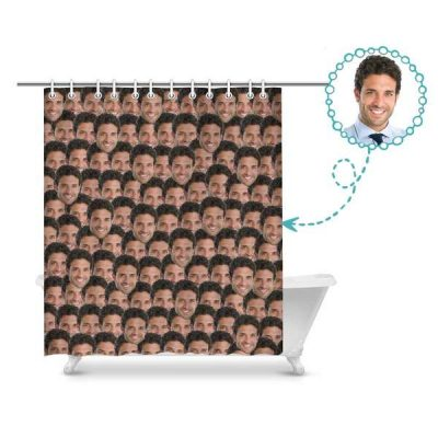 custom shower curtain printed personalized shower curtain