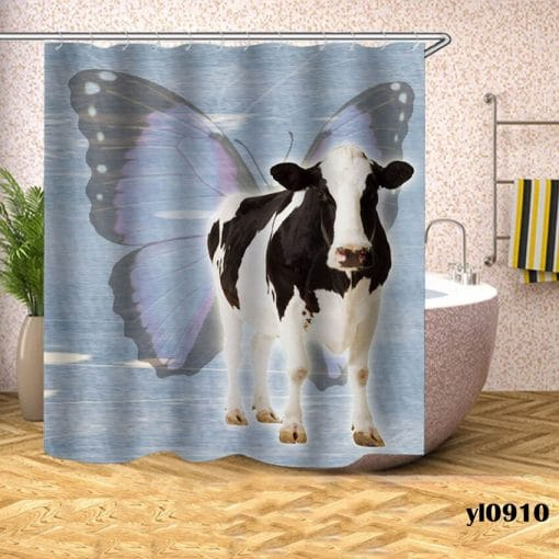 Premium Abstract Butterfly Shower Curtains Waterproof Butterfly Shower Curtains