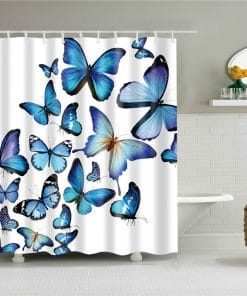 Luxury Colorful Butterfly & Girl Design Shower Curtain Waterproof Mildew Proof Butterfly Shower Curtains
