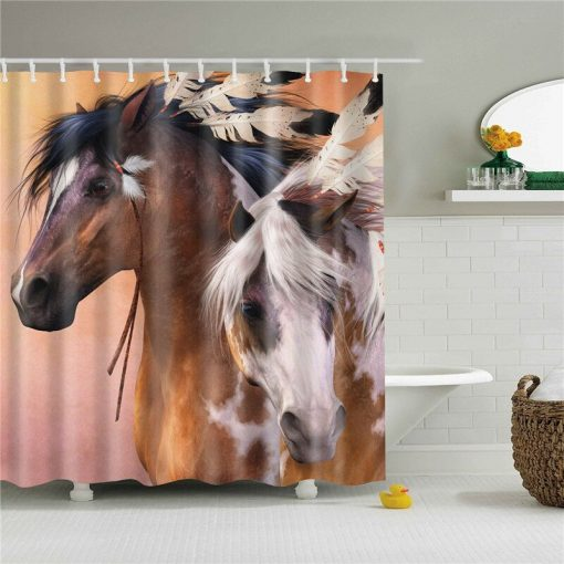 Powerful looking Horse Shower Curtains for Bathroom Horse Shower Curtains