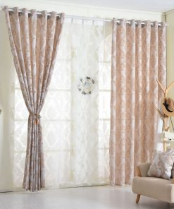 Geometry semi-blackout curtains for living room bedroom Blackout Curtains