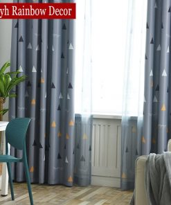 Modern Geometric Blackout Curtains For Living Room, Kids Bedroom Window Blackout Curtains