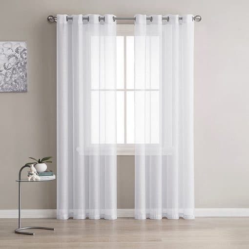 Europe Solid White Sheer/Tulle/Yarn Curtain for Living-room, Bedroom, Kitchen Modern Window Treatments Sheer Tulle Curtains
