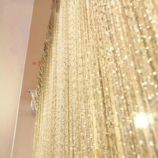 Luxury Crystal String Beaded Curtain Flash Line Shiny Tassel String Door Curtain, Window Room Divider Home Decoration curtains Beaded Curtains