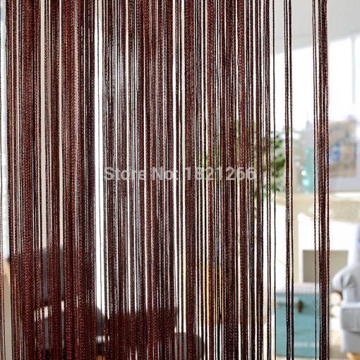 Solid Color String Beaded Curtains in White Blank Gray Classic Line Colors, Beaded Curtain Window Blind Valance Room Divider Door Decorative Beaded Curtains