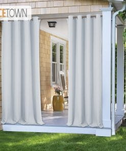 Waterproof 7 Colors Outdoor Blackout Curtains, Light Blocking Fade Resistant Drapes  with Grommet Rust-Proof for Porch & Beach & Patio Blackout Curtains