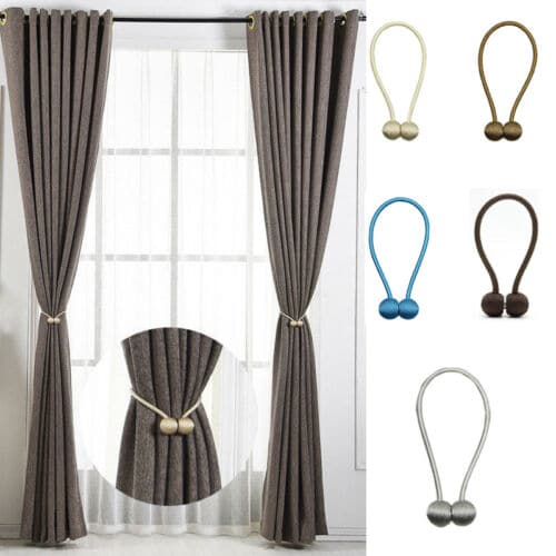 1Pc Pearl Magnetic Ball Curtain Tie Rope Backs Curtain Holdbacks Buckle Clips Accessory Curtain Hook Holder Curtain Accessories