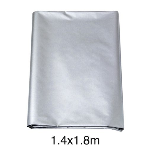 Solid Thickened Silver Thermal Insulated Heat UV Blackout Curtain With Hook Hanging Insulated Thermal Curtains