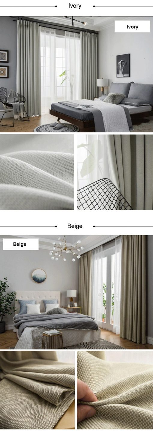 Premium Linen Thermal Insulated upto 85% Blackout Curtain Insulated Thermal Curtains