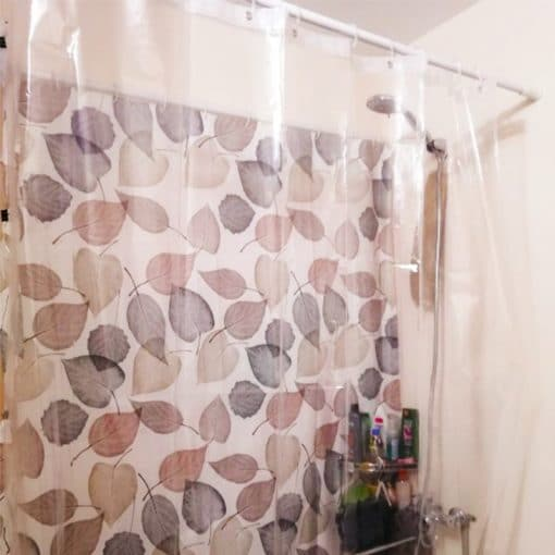 Waterproof Clear Shower Curtain Liner Transparent Mildewproof Shower Curtain Liner