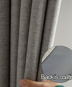 Faux Linen High Density Thermal Insulated Soundproof Blackout Curtain Insulated Thermal Curtains