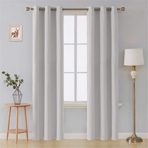 Solid Thick Thermal Insulated Blackout Curtains 2021 Insulated Thermal Curtains